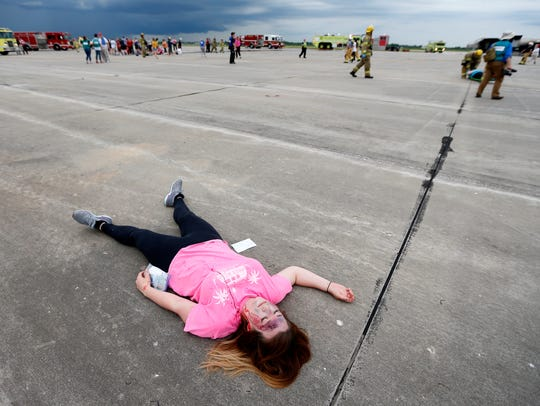During a disaster drill at the Springfield-Branson