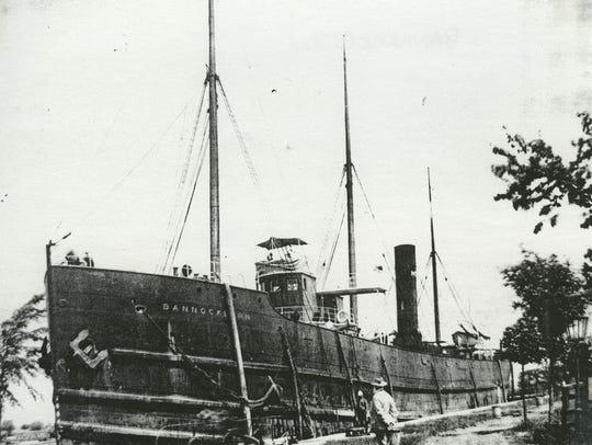 The Bannockburn, a propeller-driven bulk freighter,