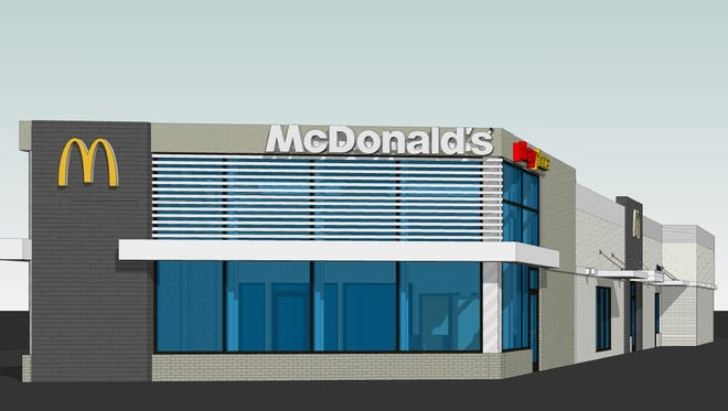 A proposed renovation of the Gallatin McDonald's on West Main Street would expand the building and add an indoor playground and second drive-thru lane.