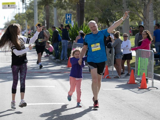 Hundreds of runners participated in the Marathon of the Treasure Coast on March 5 in Stuart.