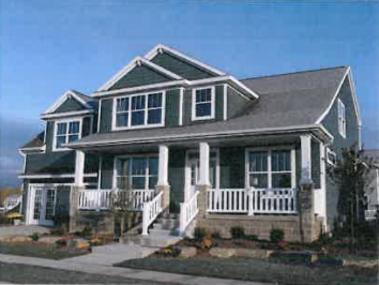 A single-family homes designed by Mayberry Homes, which