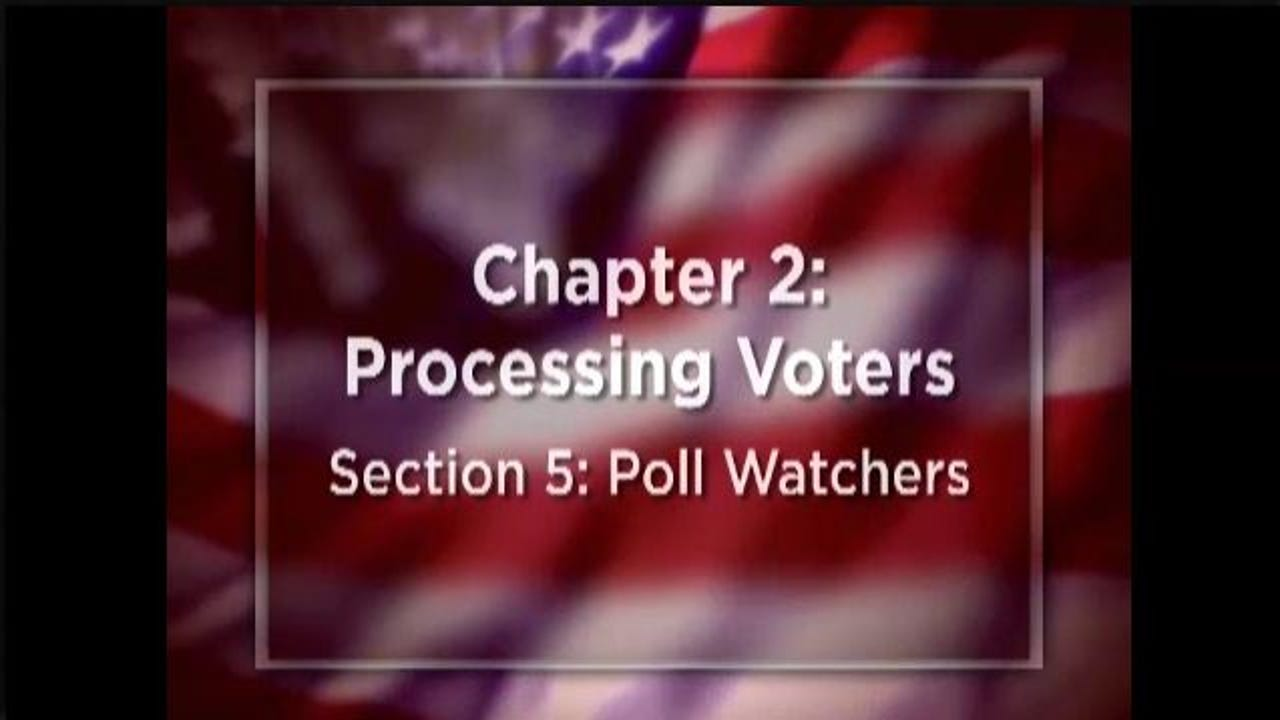 """This Department of State instructional video for poll workers advises them that poll watchers """"are not part of your team."""" The York County Democratic Party has the same video on its website."""