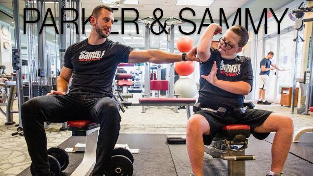13-year-old Parker has Down syndrome, and he's found friendship in his personal trainer, Sammy Callari.