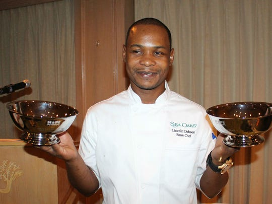 Lincoln Dobson chef at the Sea Oaks Beach and Tennis Club won the title of Vero's Top Chef. He also won the People's Choice award.