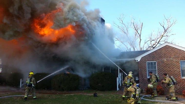Fire destroys Suffolk home
