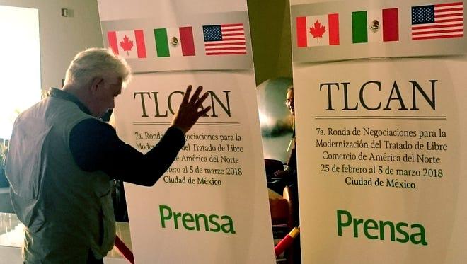Vista general del inicio de la séptima ronda de negociaciones del Tratado de Libre Comercio de América del Norte (TLCAN).