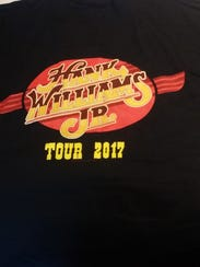 A Hank Williams Jr. tour T-shirt.