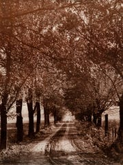 A country lane in the Town of Kirkwood, around 1940,