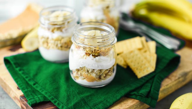 Leftover pie parfaits featuring Club Original crackers - Recipe created by Damaris Phillips, chef and TV host