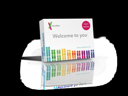 A 23andMe DNA kit.