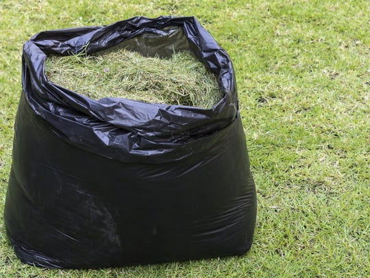 Grass clippings cannot be recycled.