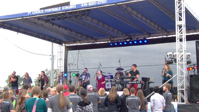 Performers from Grace Community Church, like those seen in this August 2015 photo, will give a free Christian rock concert Aug. 23 at the Sandusky County Fair.