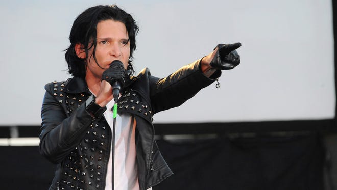 Corey Feldman, performing in 2013, seeks to raise $10,000,000 to make a film about his life.