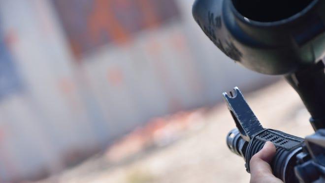 Paint gun range