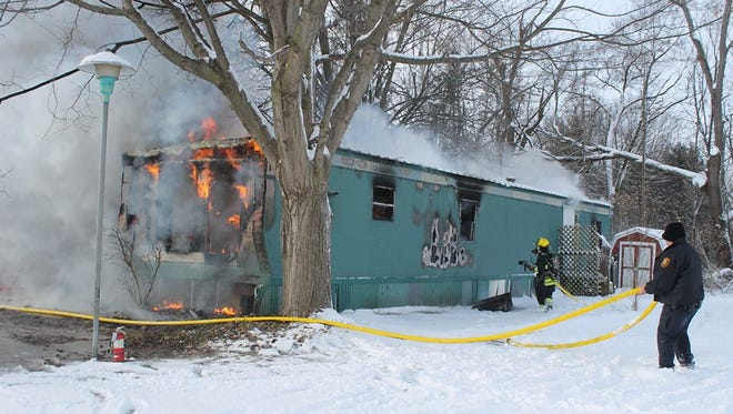 Two children were killed in a mobile home fire Wednesday morning on S. Erie Street in Three Rivers. (Jan 7, 2015)