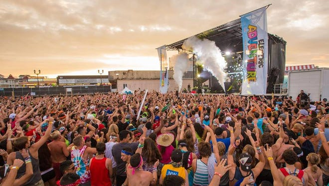 The Electric Adventure music festival in Seaside Heights in 2014.