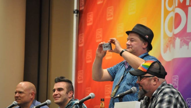 Kerry takes a photo of the audience at Salt Lake Comic Con 2014.