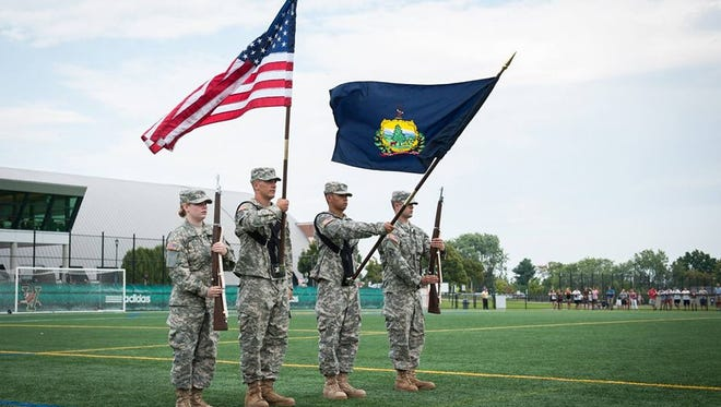 UVM ROTC cadets in 2011.