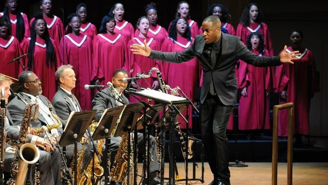 Damien Sneed conducts Wynton Marsalis' Abyssinian Mass with CCM Jazz Orchestra and Chorale and the Central State University Gospel Choir. He is seen in a performance with the Jazz at Lincoln Center Orchestra.