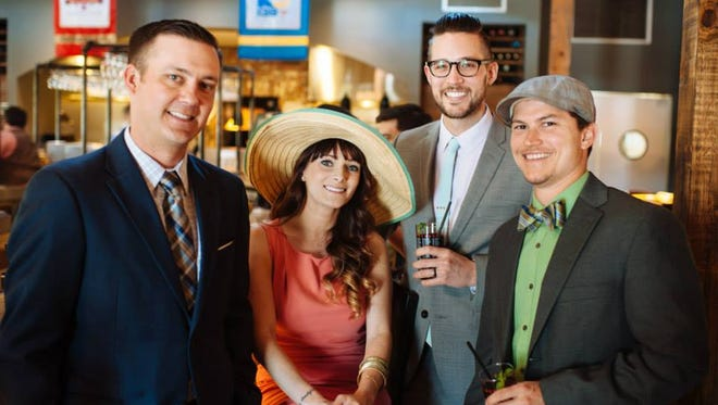 Adam Chapman, Christy Labauve, Patrick Labauve and Derrick Hines during a previous rendition of Social's derby day.