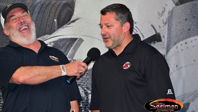 Pat Sullivan (left) with Tony Stewart