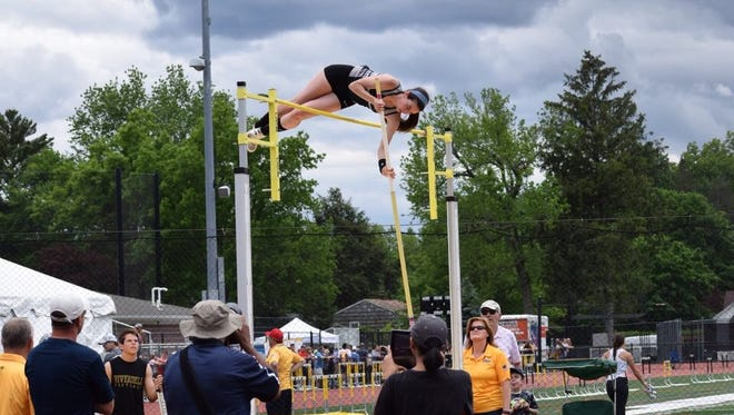 Paramus' Jackie Helm took 15th place for pole vault in the state Meet of Champions.