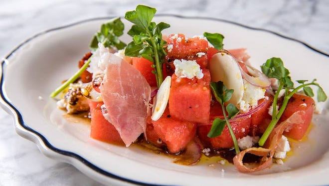 The watermelon salad is one of the new menu items at The French