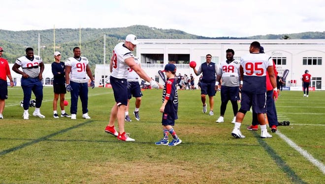Wyatt Eckerson got to meet his idol J.J. Watt this summer on a family road trip to see the Houston Texans practice.