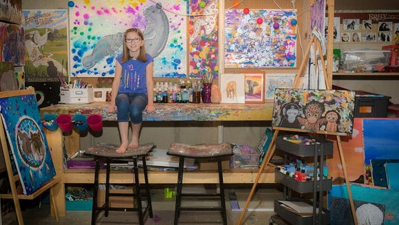 Sioux Falls student Bria Neff will display her art