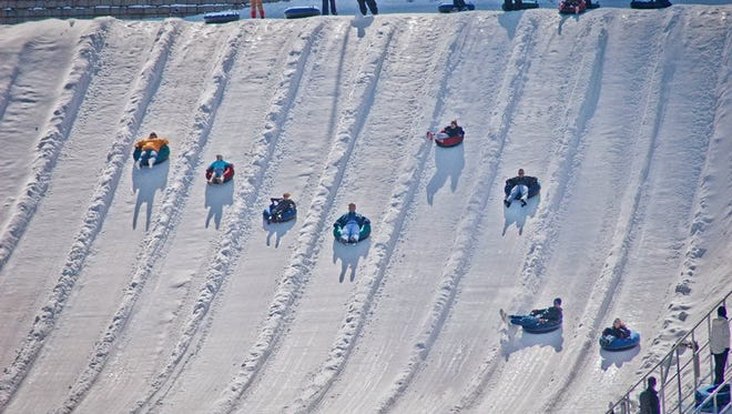 The new Beach Mountain winter snowtubing event opens Nov. 21 at The Beach Waterpark in Mason.