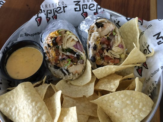 The first 3 Pepper Burrito Co. debuted in November