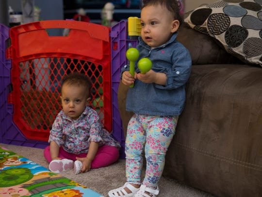 One year old twins Aria and Natalie Kudelin of Toms River. Both beat the odds to survive after being born at 23 weeks and less than a pound each. A fundraiser for the family is upcoming in a few weeks.