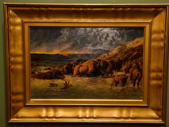 "C.M. Russell's ""Prairie Fire"" was painted in 1898."