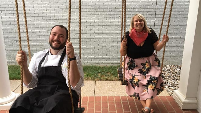 Katie Kubitskey of My World Travel planning service and local chef Collin Oliver