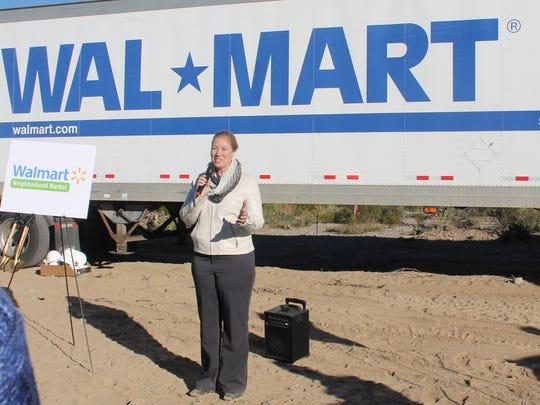 Galea speaks during the groundbreaking ceremony for the Walmart Neighborhood Market.