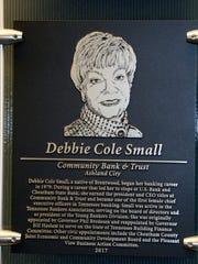Debbie Small's plaque
