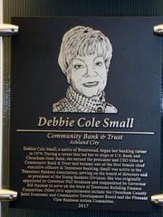 Debbie Small's plaque