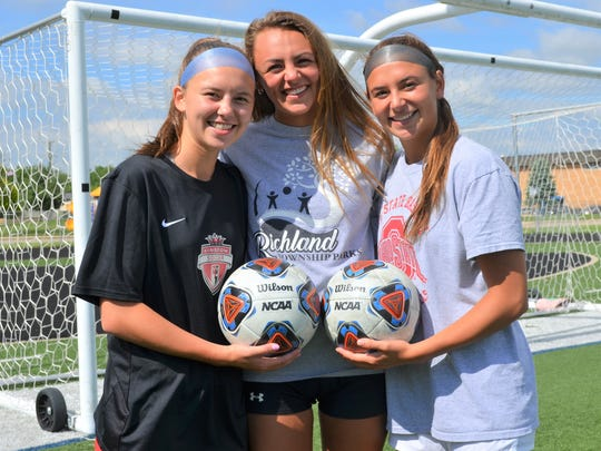 Gull Lake standouts Rosie Wisser, left, and Reagan