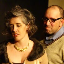 """Caroline Helm, left, and Danny Ladmirault are shown in a scene from """"Who's Afraid of Virginia Woolf?"""""""