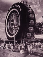Uniroyal giant tire was created as a Ferris wheel at the 1964/65 New York World's Fair.