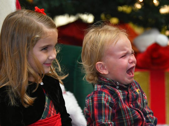 Siblings Makayla and Zander Horst of Palm Bay had totally different takes on meeting Mr. Claus. The yearly Santa's Village at Melbourne Square Mall was set up near JC Penney November 17, and continues until Christmas Eve.