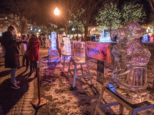 Arctic Blast Greets Plymouth Ice Festival Crowds