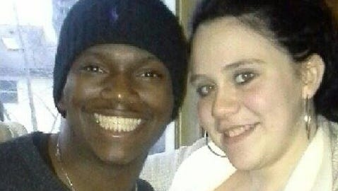 "Javan ""Jay"" Robinson with his fiancee Katelyn Kagan. Robinson was killed by a now-admitted drunken driver on Feb. 23, 2014 in Rockaway Township."