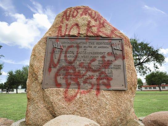 Confederate Monument Defaced