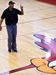 Former NBA player and Memphis Grizzlies assistant coach Elston Turner conducts his annual basketball camp at Austin-East High School Tuesday, July 29, 2014. Turner, a graduate of Austin-East, played for eight seasons in the NBA.