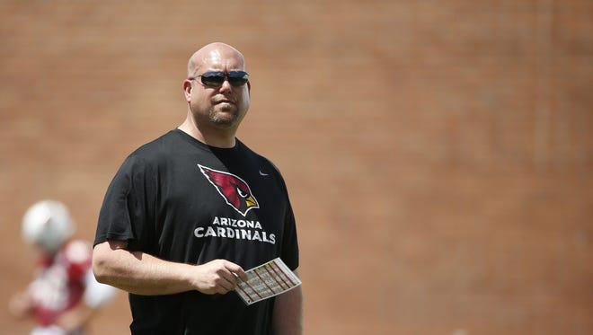 Arizona Cardinals GM Steve Keim at rookie camp at the Cardinals Training Facility in Tempe, Ariz., on Friday, May 6, 2016.