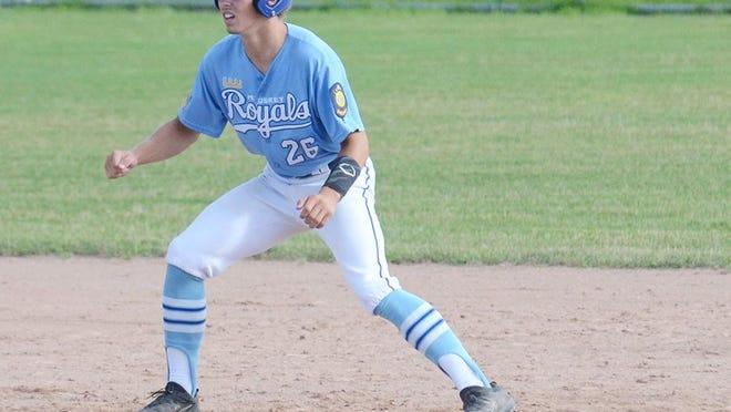 Glenn Bonter, a 2020 Pellston High School graduate, is a member of the Petoskey Royals 19-under travel baseball team.