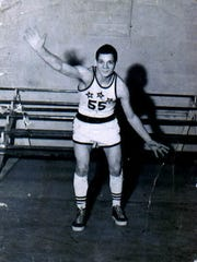 Dale Smith as a basketball player at White's Institute
