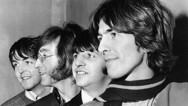 Paul McCartney, John Lennon, Ringo Starr and George Harrison 1968.