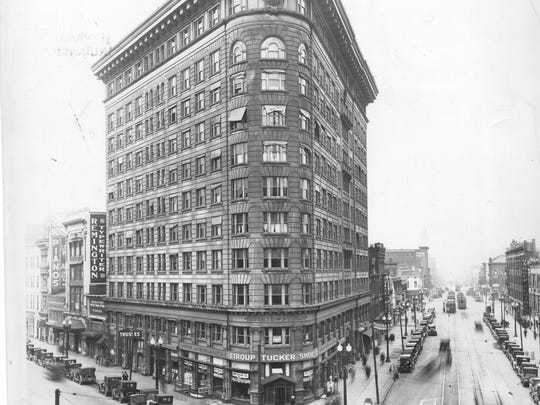This 1937 photo shows the Knights of Pythias building